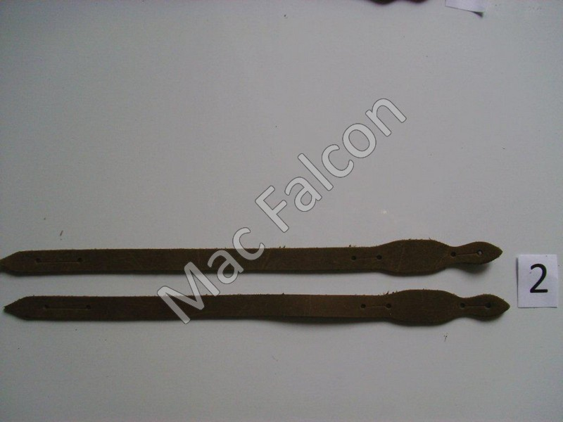 Complete set of cow leather traditional straps. Size 2