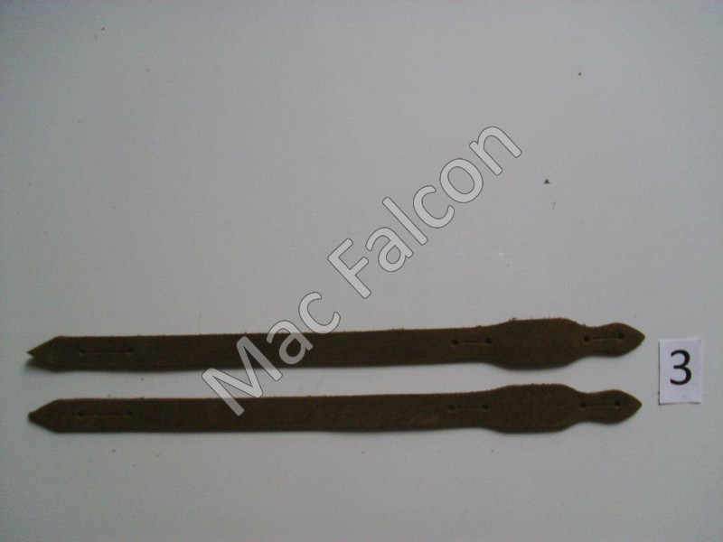 Complete set of cow leather traditional straps. Size 3