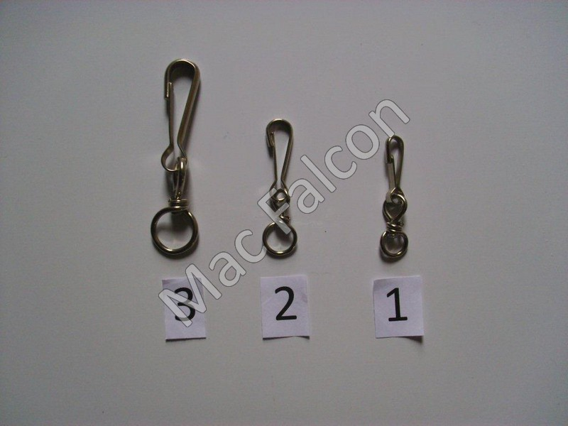 Clips with swivel. Size 2