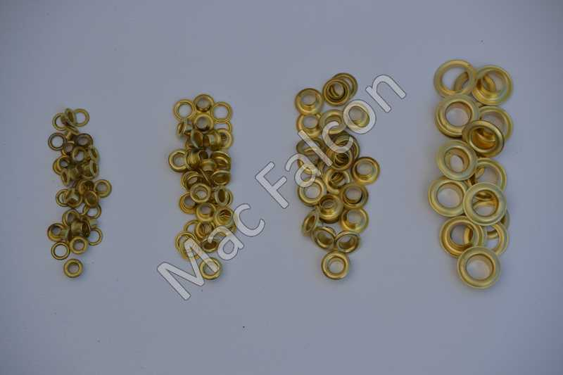 Grommets 5, 6.5, 8 and 11 mm in the color brass