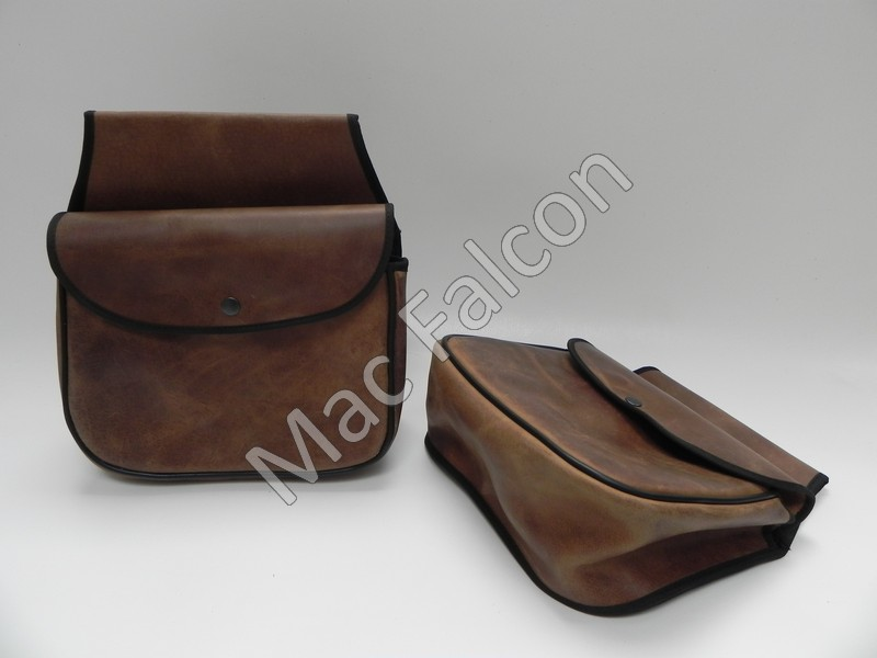 Goliath, leather waist bag second hand look brown