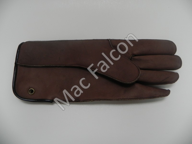 Mac Easy - Mac Falcon, leather falconry glove, brown, 1 layer and 30 cm long