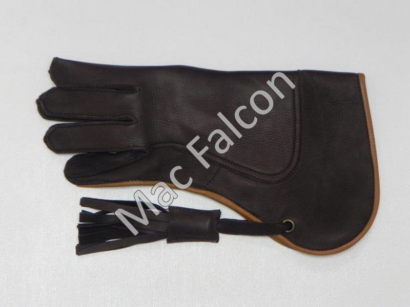 Mac Falcon Top - Line Falconry glove, brown / beige, 2 layers and 30 cm long
