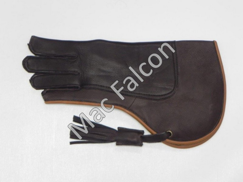 Mac Falcon Top - Line Falconry glove, brown / beige, 2 layers and 35 cm long