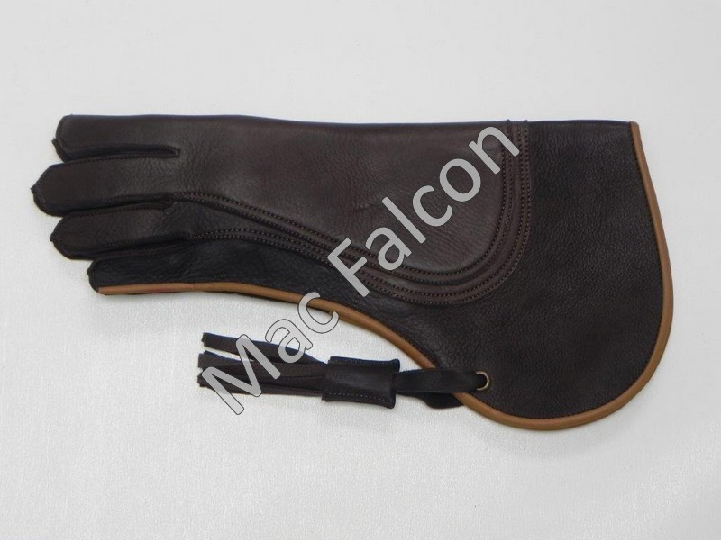 Mac Falcon Top - Line Falconry glove, brown / beige, 3 layers and 38 cm long