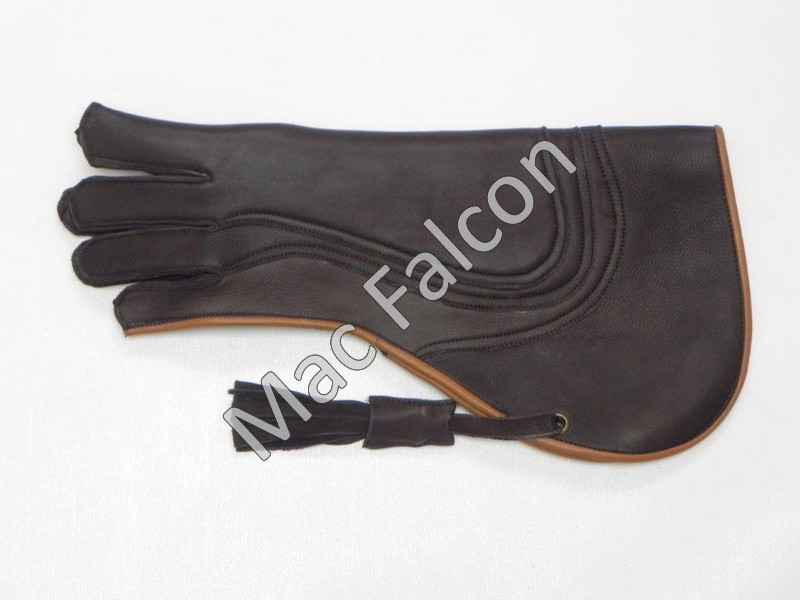 Mac Falcon Top - Line Falconry glove, brown / beige, 4 layers and 40 cm long