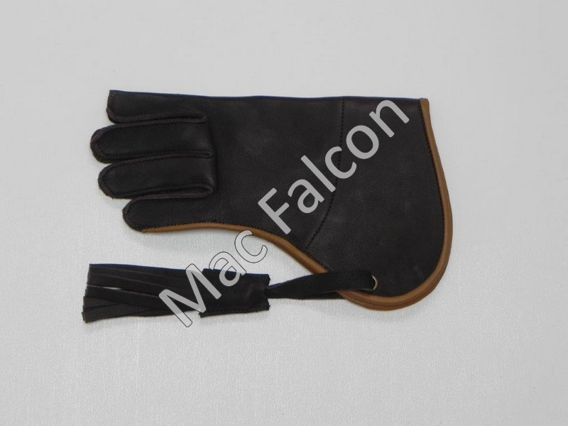 Mac Falcon Top - Line Falconry glove, brown / beige, 1 layer and 25 cm long.