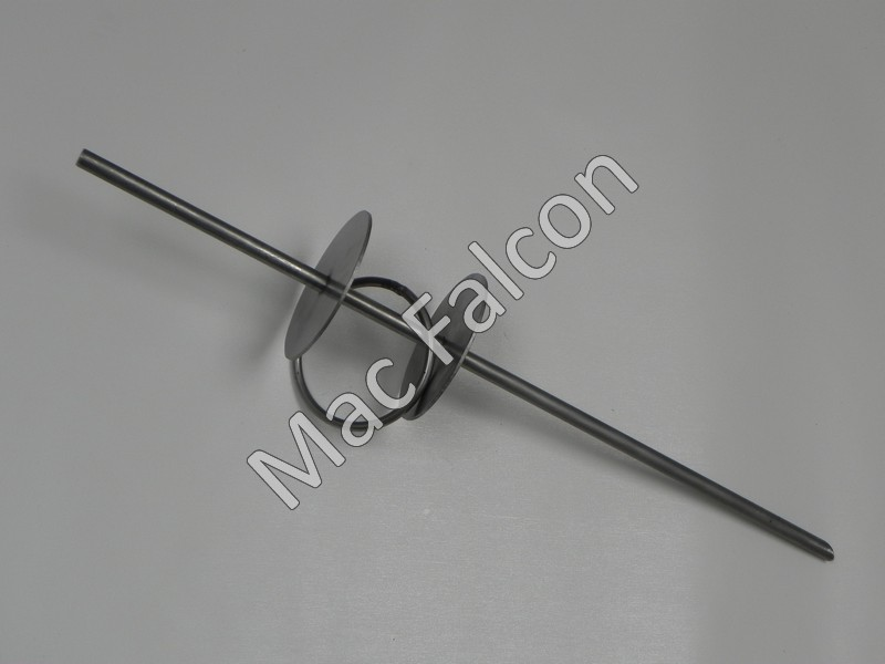 Robust stainless steel spike diameter 1.5 cm total length of 75 cm