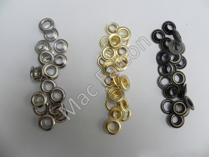 Grommets 10 mm in the colors silver, gold, bronze